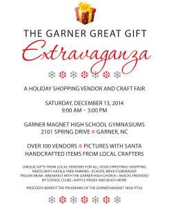 Garner Craft Fair Flyer 2014