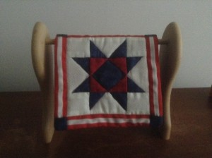 Quilted Red White and Blue Star