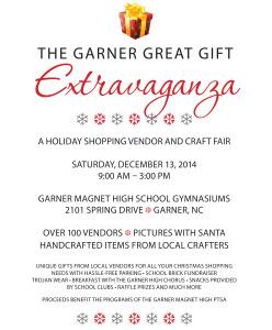 Garner Craft Fair Flyer 2014